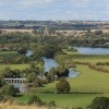 View from Wittenham Clumps over Day's Lock and the River Thames