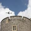 Flying over Windsor Castle