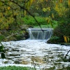 The waterfall at Watermead Country Park