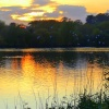 Sunset over the lake at Watermead Country Park