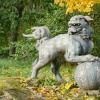 The Foo Dog in the Japanese Garden at Batsford