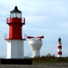 Point of Ayre lighthouses and fog horn Bride