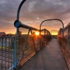Autumn morning, Selby St footbridge, Hull