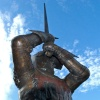 Harry Hotspur Bronze Statue In Alnwick