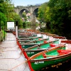 Boats for hire near Knaresborough viaduct