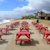 Empty tables in Southwold