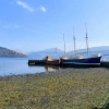 High and dry in Loch Fyne, Inveraray