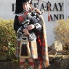 A Scottish piper at Inveraray