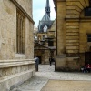 Between Old Bodleian Library and Sheldonian Theatre, Oxford.