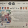 Magna Carta - The information board.