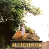 Litcham Village Sign - Very high up