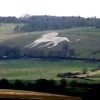View of the Whipsnade White Lion from Ivinghoe Beacon