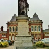 Statue of Sir Isaac Newton in Grantham