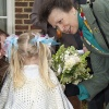 HRH Princess Anne visiting Godmersham, Kent.