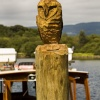 Carving at Derwentwater piers