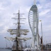 Spinnaker Tower and training ship, Portsmouth