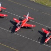 the red arrows at Newcastle airport