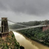 Rainy day at Clifton Suspension Bridge