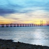 M4 Roadbridge Sunset, Severn Beach.