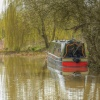 Narrowboat on the Oxford Canal at Cropredy, Oxfordshire