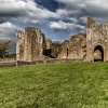 Raglan Castle ruins,  Monmouthshire, Wales