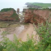 View of Ladram Bay from SW Coastal Path west of Sidmouth