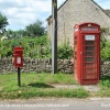 Telephone Box & Postbox, The Street, Littleton Drew, Wiltshire 2015