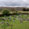 Peaceful Cemetery scene, with Dartmoor in the distance