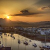 Sunrise over Porthmadog Harbour