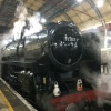 Steam locomotive Oliver Cromwell at Victoria Station, 12th December 2017