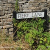 Fiery Lane Sign, Uley, Gloucestershire 2014