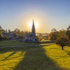 Edensor Church at sunset