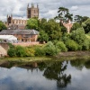 Hereford Cathedral over the River Wye