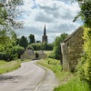 Approaching the Village of Bulwick, Northamptonshire.
