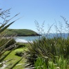 View of Manorbier Beach, Pembrokeshire