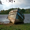 Boat on River Dee, Kirckudbright