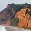 Red cliffs of Budleigh