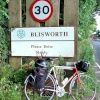 Blisworth Village Sign and My Trusty Cycle