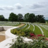 Rows of crosses, Cambridge American Cemetery