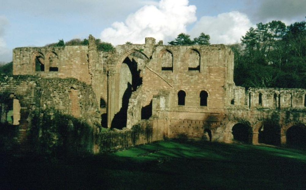 The ruins of Furness Abbey, near Barrow in Furness.