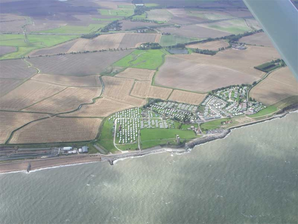 Reculver from the air