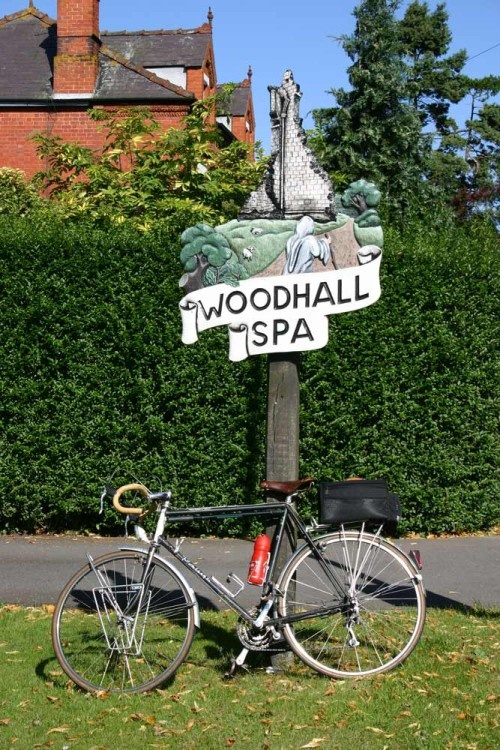 Woodhall Spa Village sign