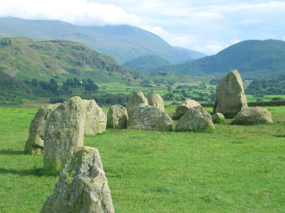 View from Castlerigg stone circle