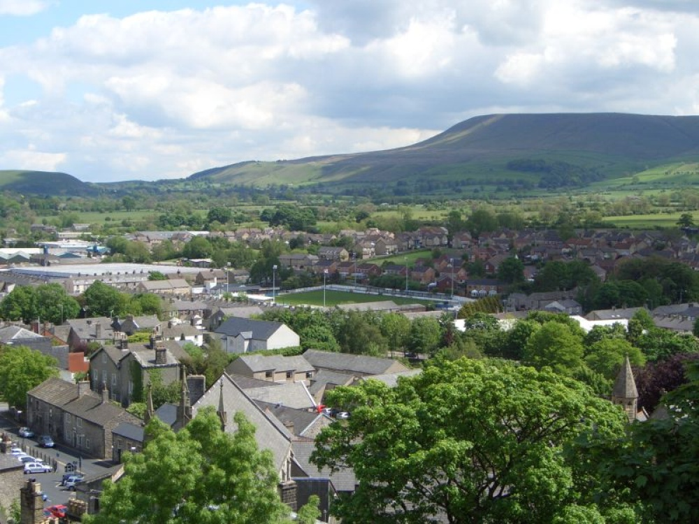 View of Clitheroe from the Castle