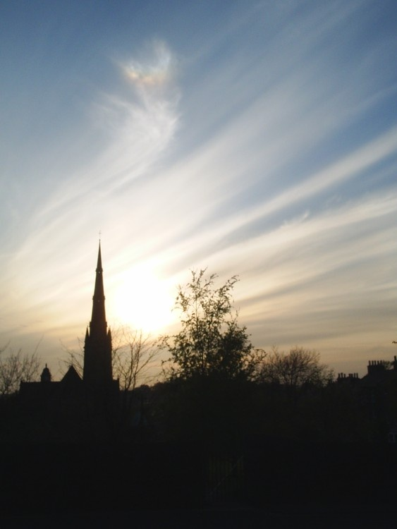 Lancaster Cathedral at sunset 2005
