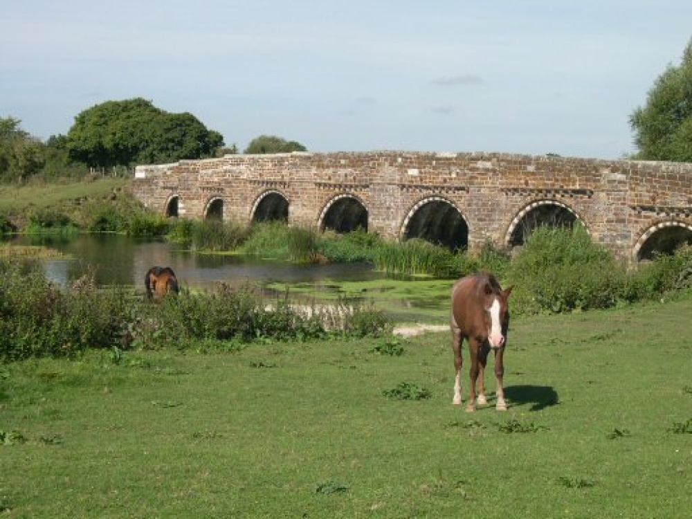 Bridge over River Stour at White Mill, near Sturminster Marshall, Dorset