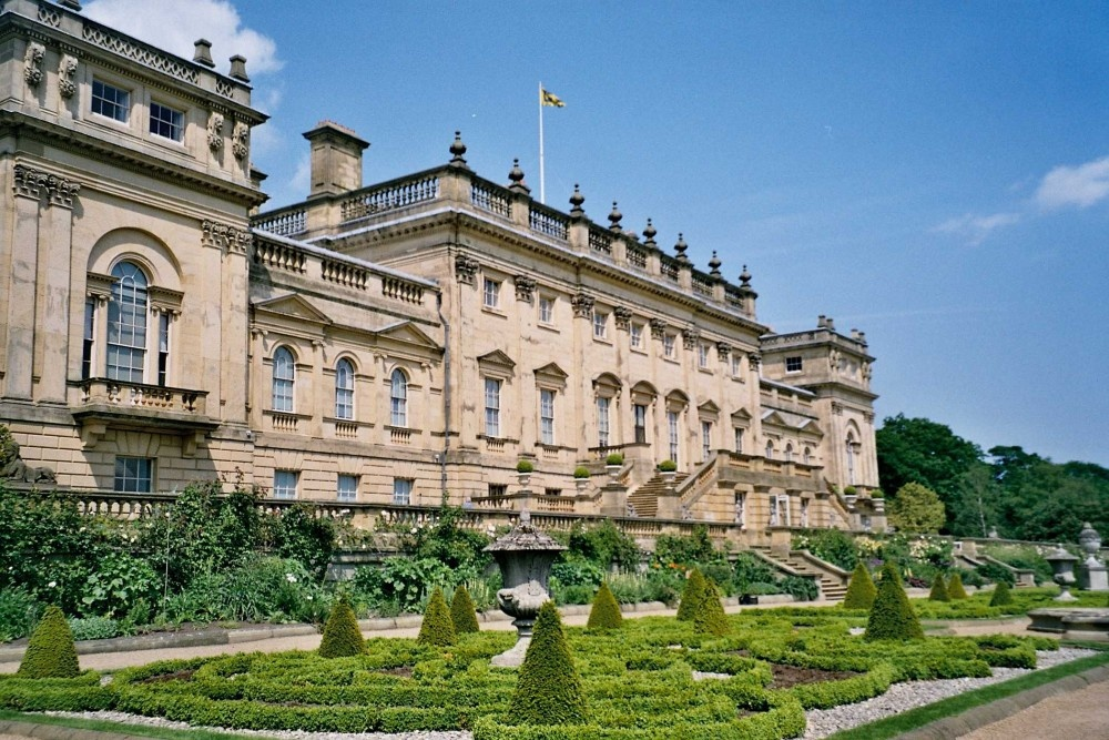 Harewood House in West Yorkshire - Terrace Gardens, June 2005