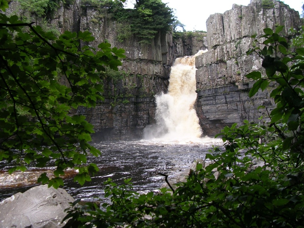 High Force, Englands highest waterfall. On the River Tees, Upper Teesdale, Co.Durham.