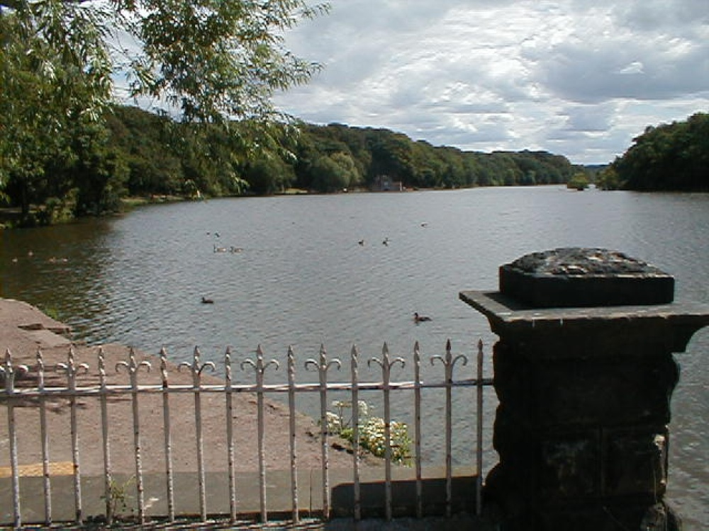 A view of Newmillerdam taken near the memorial, West Yorkshire.