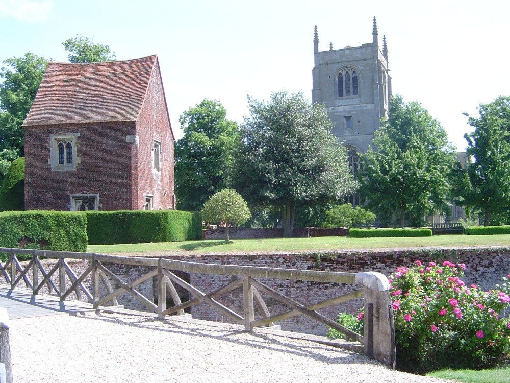 View from Tattershall Castle towards the Church, Tattershall, Lincolnshire
